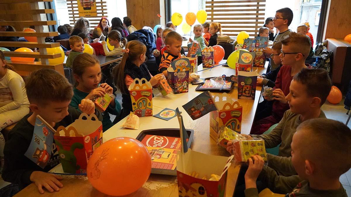 Kids at Sarajevo McDonalds