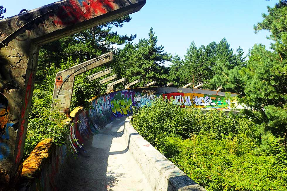 Sarajevo Olympic Bobsled Track at Trebevic Mountain