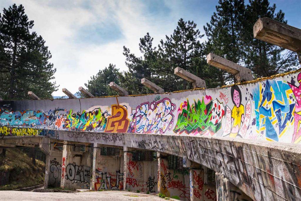 Sarajevo Olympic Bobsled Graffiti