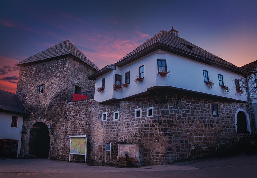 Bosnian house architecture in Jajce - Bosnia and Herzegovina