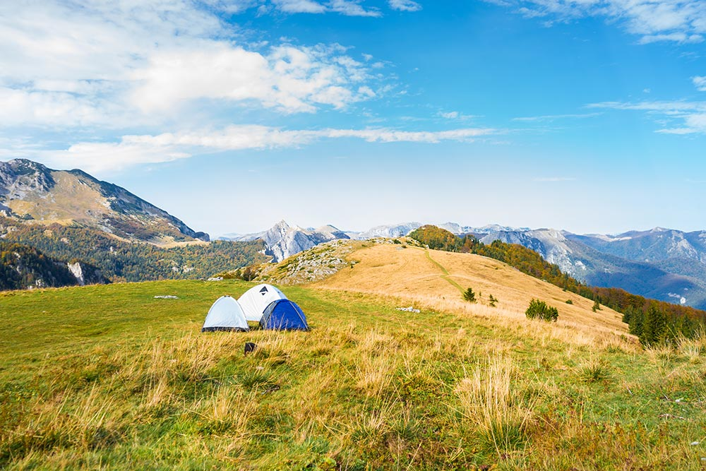 Camping at Sutjeska National Park - Bosnia and Herzegovina