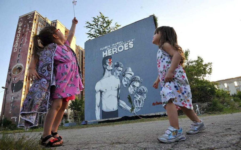 Dawid Bowie Mural Sarajevo