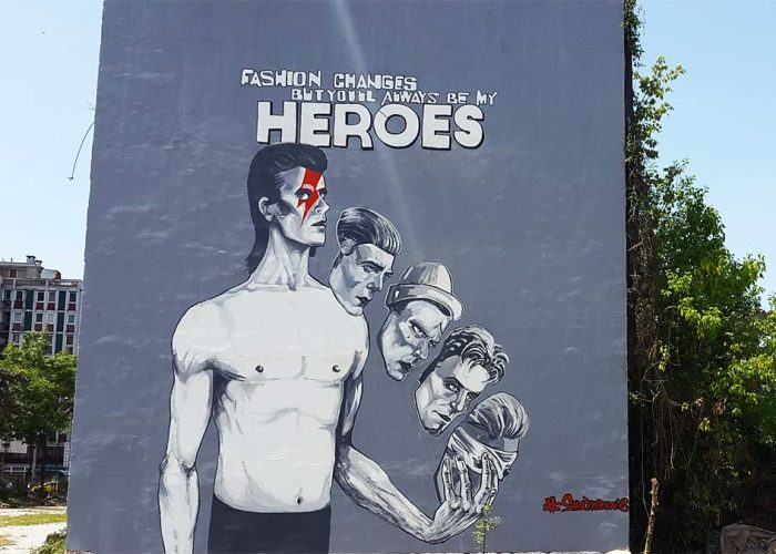 Dawid Bowie Mural in Sarajevo and Sarajevo Street Art Scene
