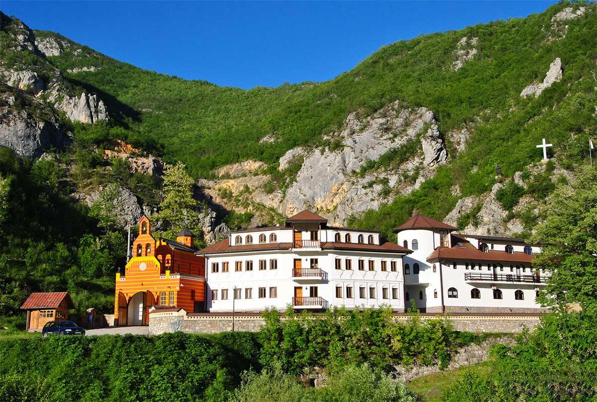 Dobrun Monastery near Višegrad in Eastern Bosnia