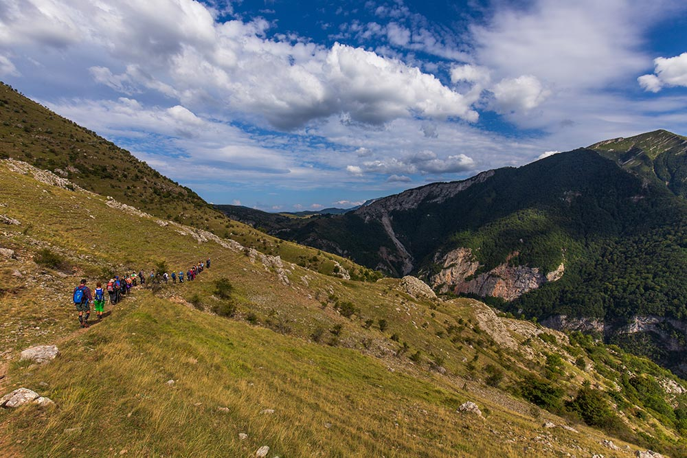 Hiking Trail on the edge of Rakitnica canyon - Bjelasnica mountain, Bosnia and Herzegovina