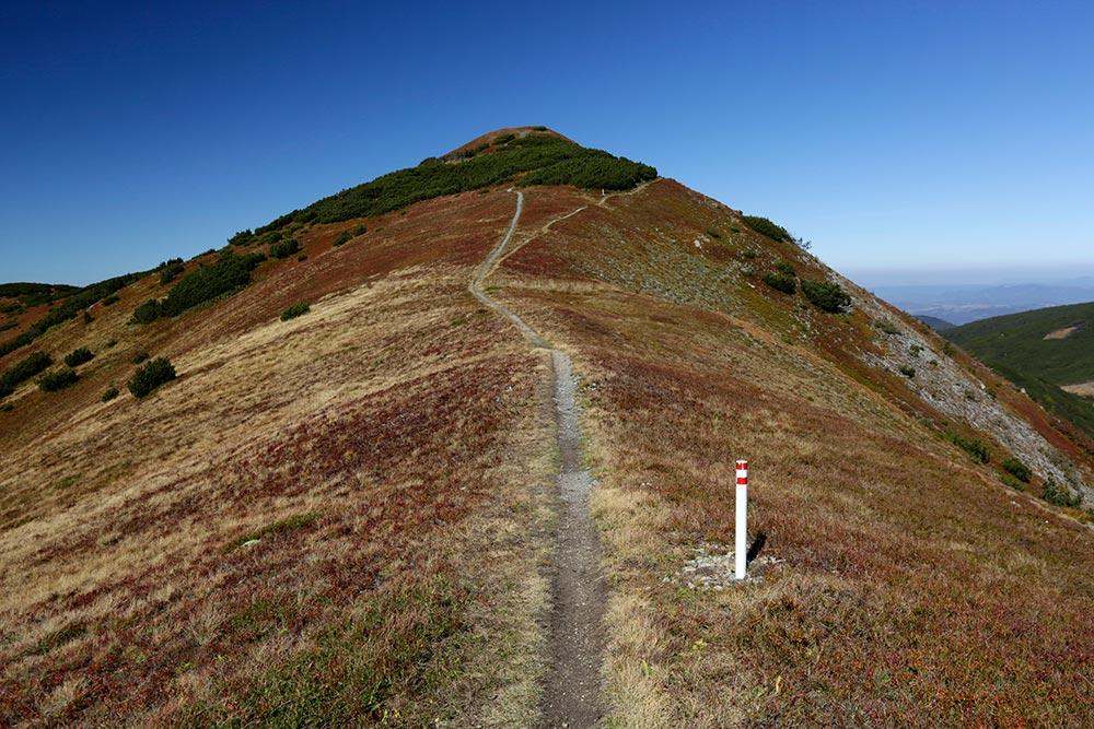 Hiking trail to Nadkrstac peak at 2112 m at Vranica mountain