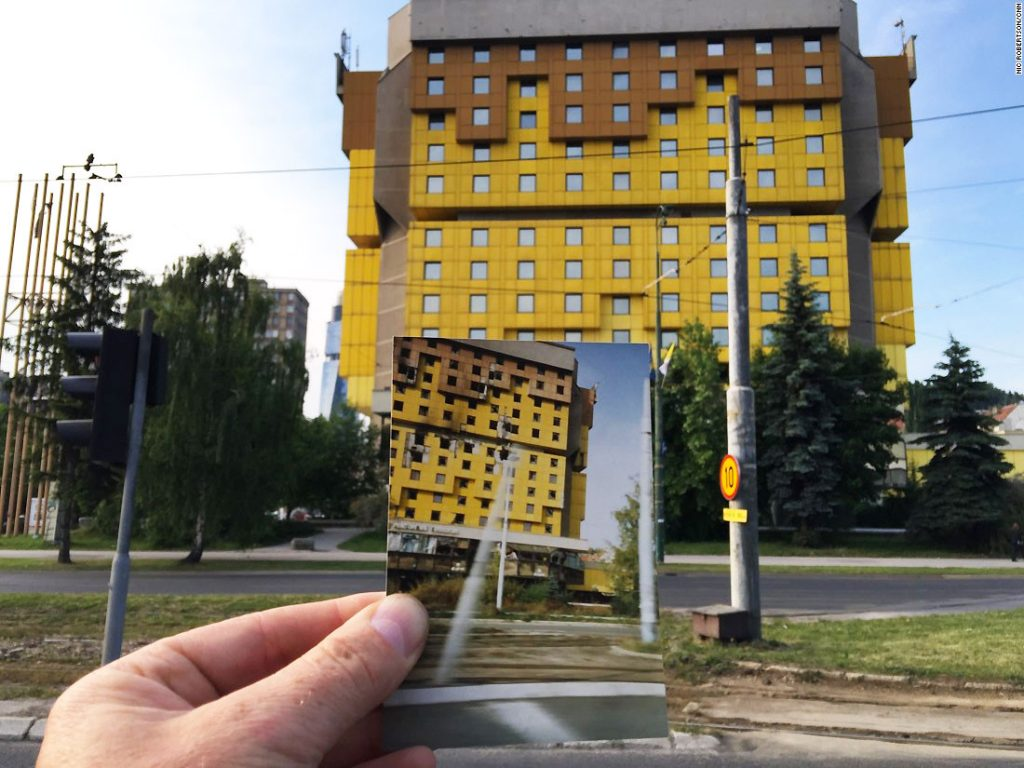 Hotel Holiday Inn during the Sarajevo Siege and After