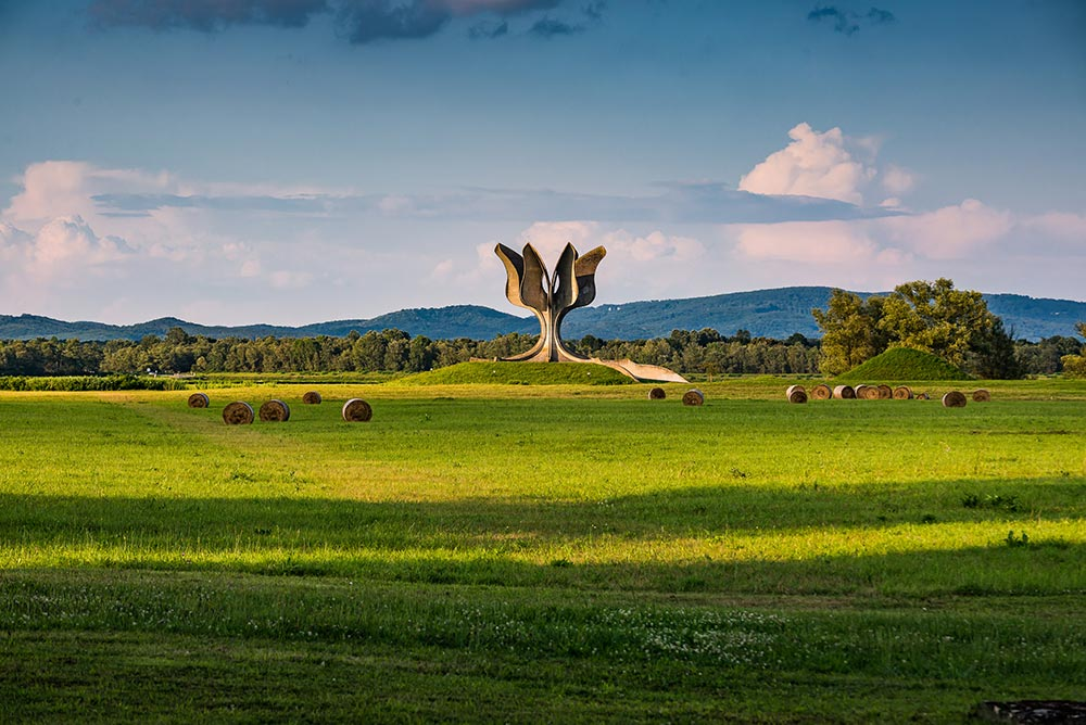 Jasenovac Memorial to the victims of Independent State of Croatia WW2 Victims of Jasenovac Concentration and Extermination Camp - Croatia