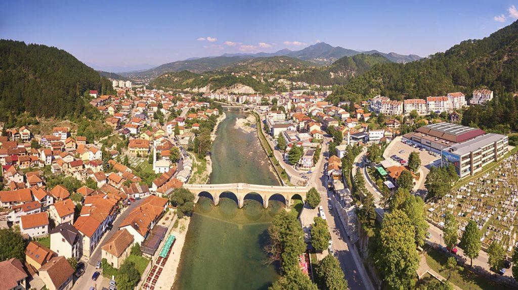 Konjic town in Herzegovina region
