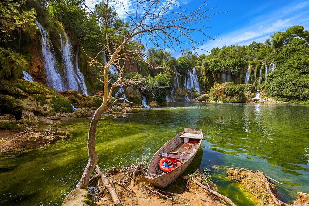 Kravice Waterfalls near Ljubuski and Mostar in Herzegovina.jpg