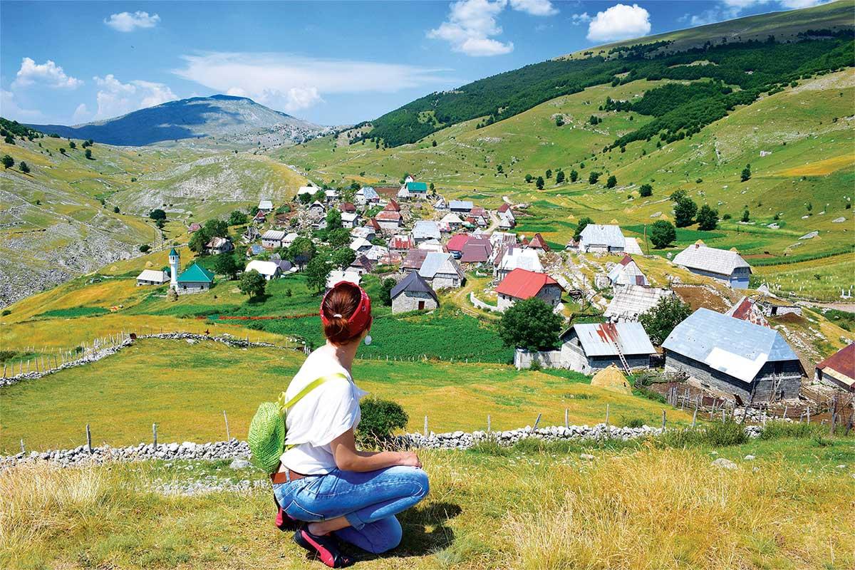Lukomir Village at Bjelašnica Mountain