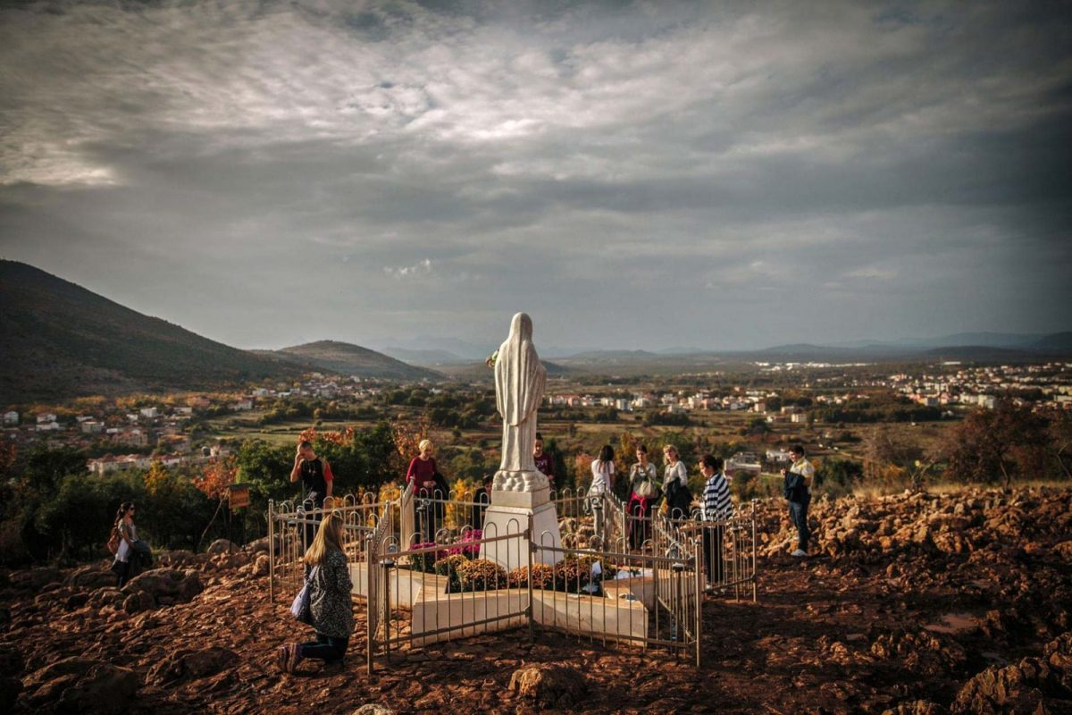 Medjugorje Apparition Hill - Virgin Mary Statue