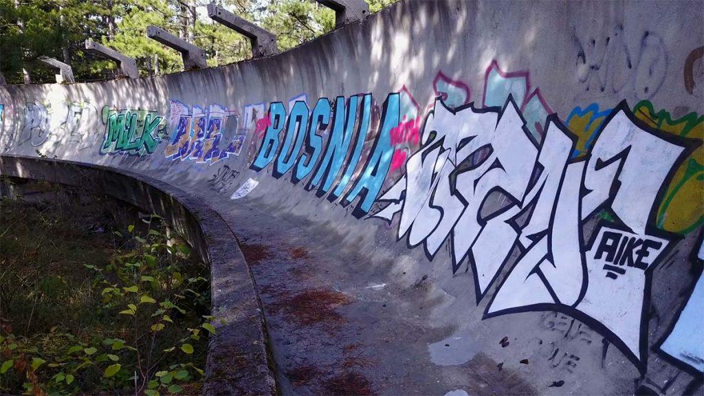 Sarajevo Olympic Bobsled Graffiti Art