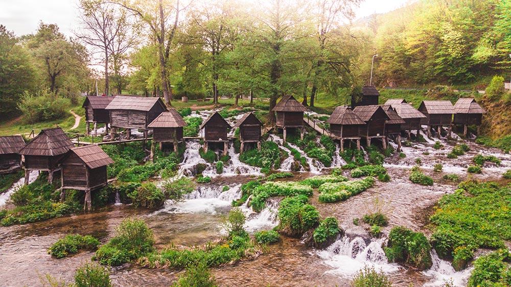 Pliva mills during the autumn - Jajce