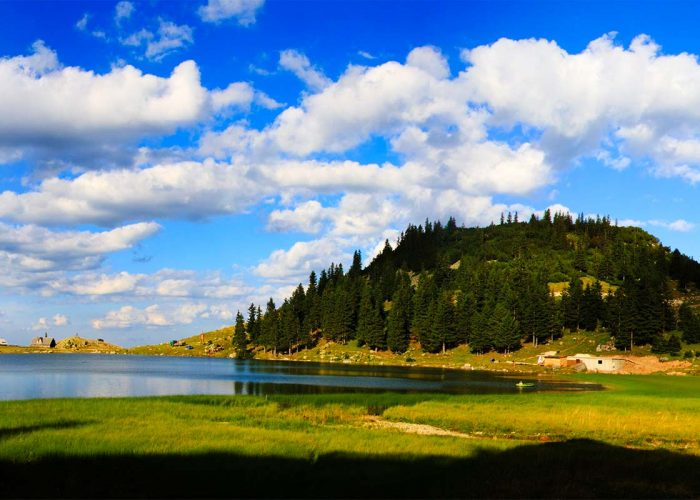 Prokosko Lake Panorama at Vranica Mountain