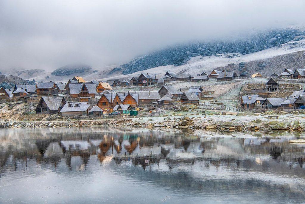 Prokosko Lake during the winter, Vranica mountain - Bosnia and Herzegovina