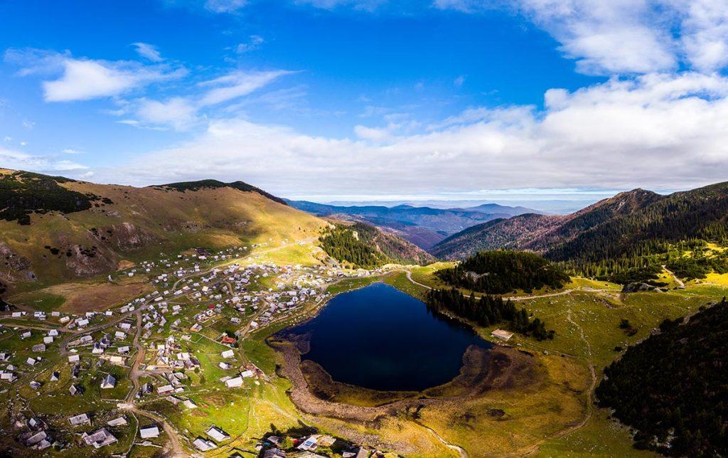 Prokosko lake aerial view - Vranica mountain - Bosnia and Herzegovina