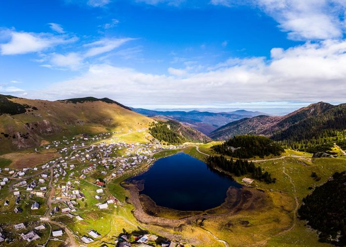Prokosko lake aerial view - Vranica mountain - Bosnia and Herzegovina