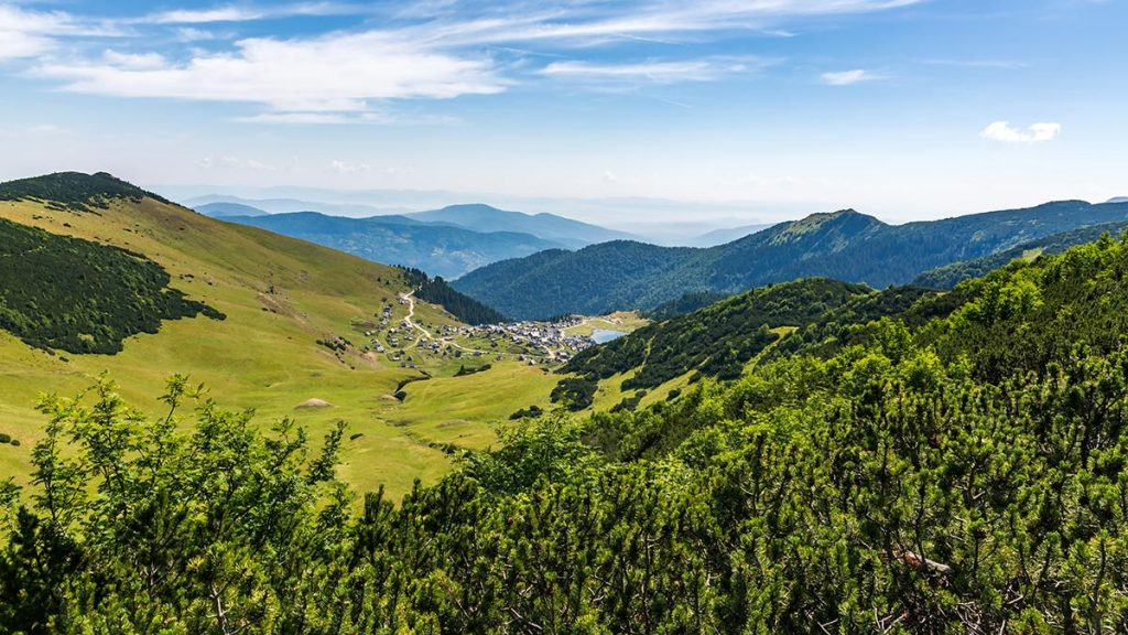 Prokosko lake view from Vranica mountain peak - Bosnia and Herzegovina