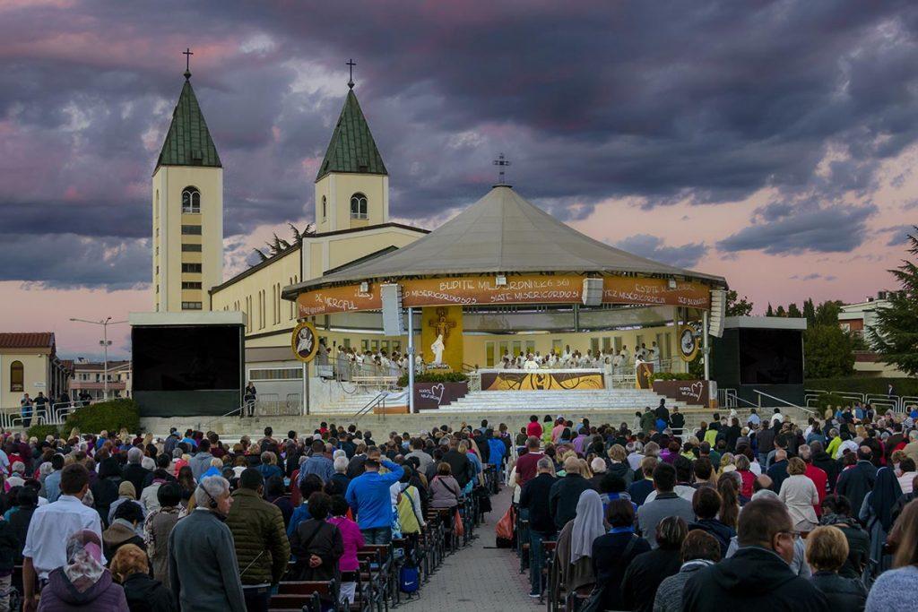 Saint James Church evening Mass at Medjugorje - Bosnia and Herzegovina