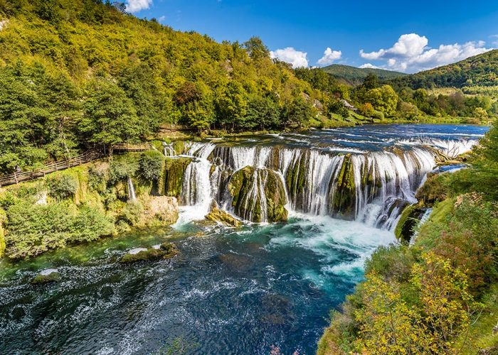 Strbacki buk waterfall near Bihac
