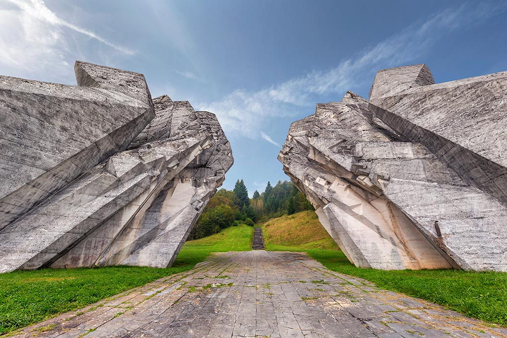 Tjentiste Memorial - Sutjeska National Park - Bosnia and Herzegovina