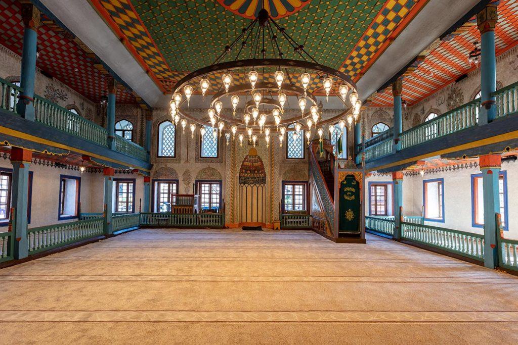 Travni colored mosque - Central Bosnia