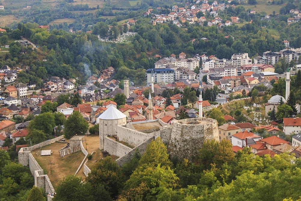 Travnik fort overlooking the Travnik old town - Central Bosnia