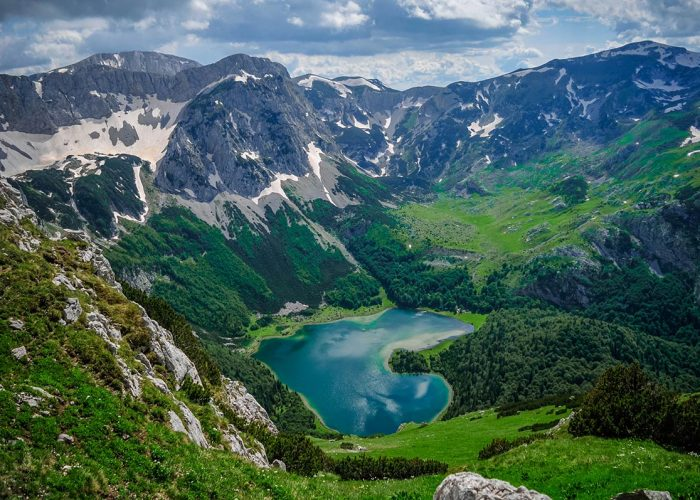 Trnovacko Lake at Sutjeska National Park between Bosnia and Montenegro