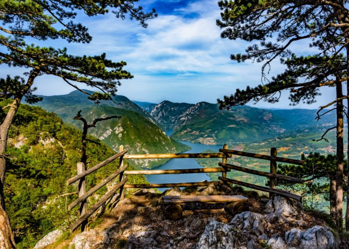 Banjska Stena Viewpoint at National Park Tara at Serbia