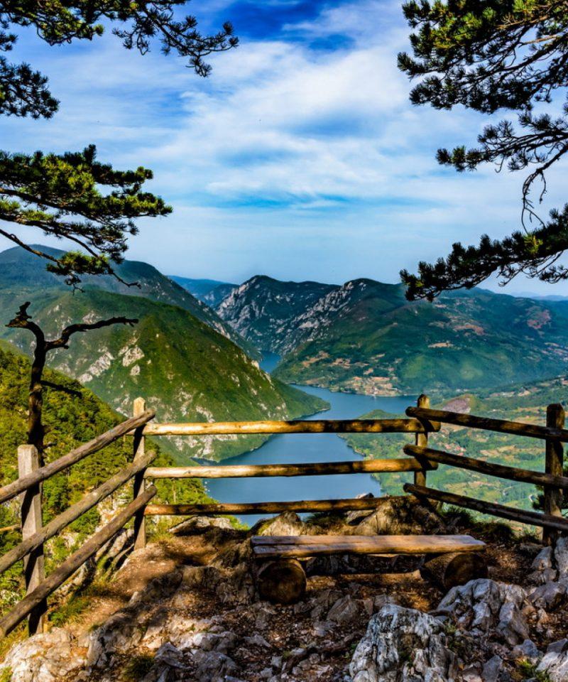 Banjska Stena Viewpoint at National Park Tara at Serbia