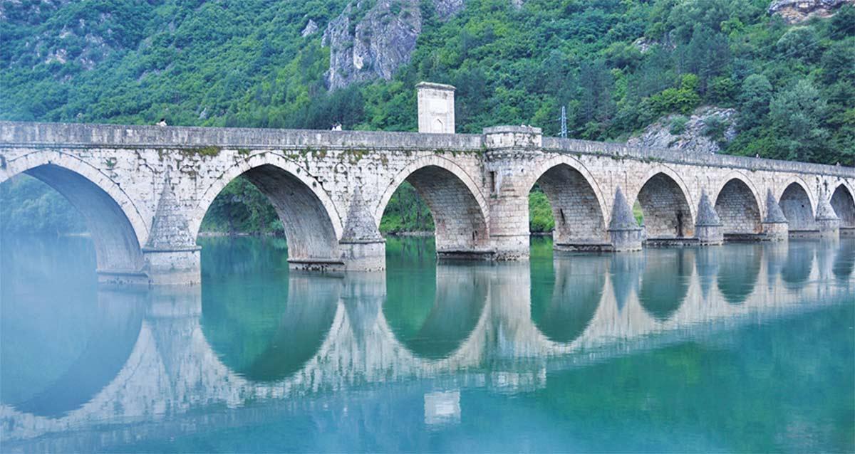 Mehmed Pasa Sokolović Bridge in Višegrad in Eastern Bosnia
