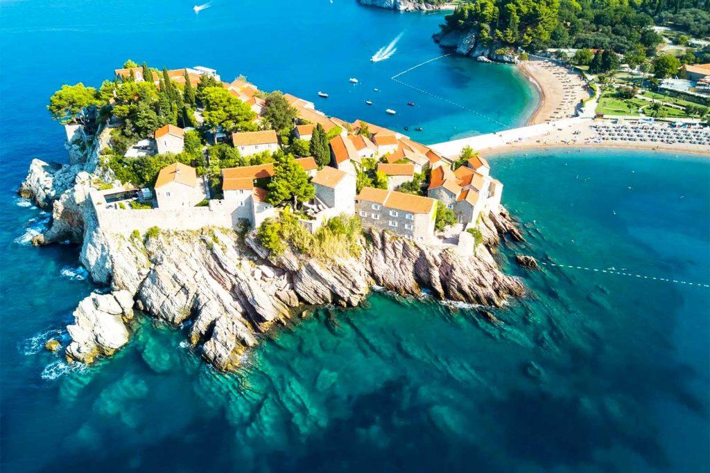 Sveti Stefan Island in Montenegro near Budva