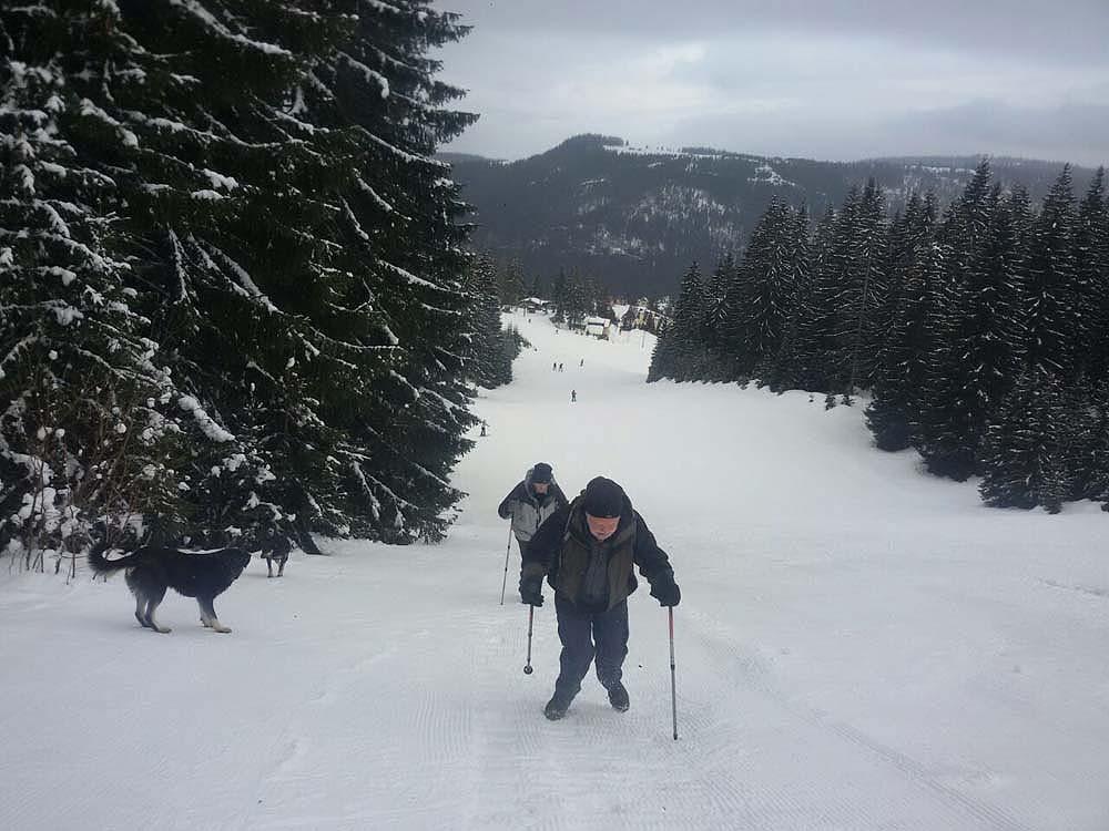 Bosnia winter snowshoeing