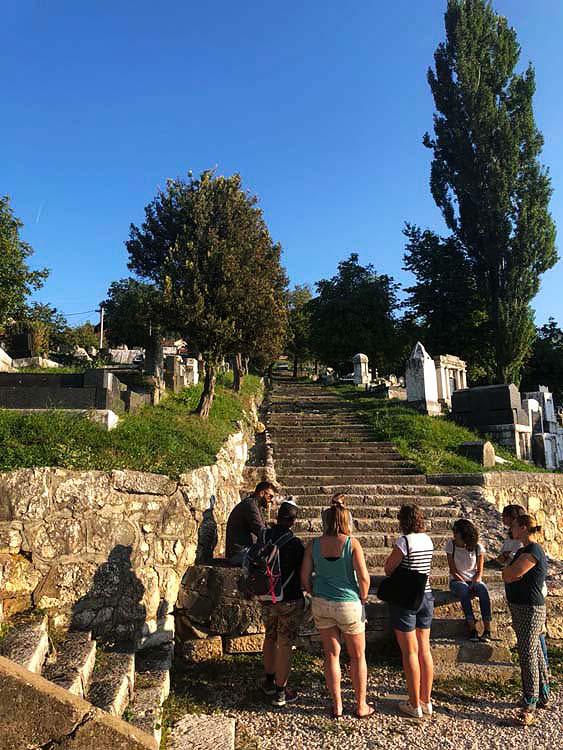 Jewish Cemetery in Sarajevo. Sarajevo Siege Tour by Funky Tours.