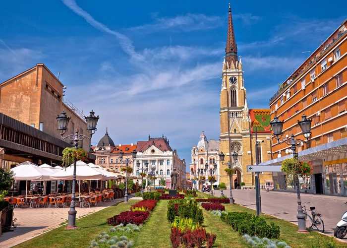 Novi Sad Square at Vojvodina