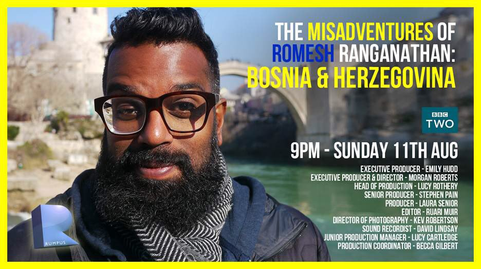 Watch Romesh Ranganathan and Skender Hatibović having great time exploring Bosnia and Herzegovina