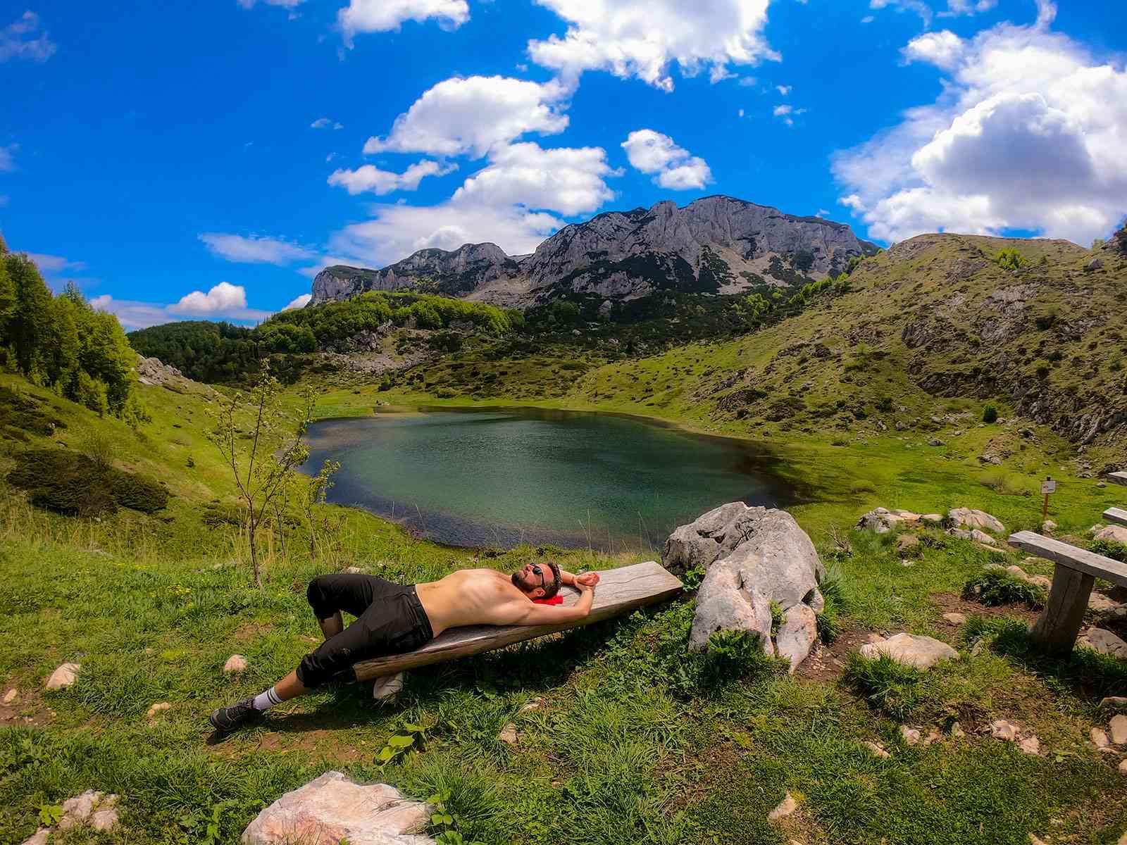 Resting time at the Big Lake - Treskavica Mountain