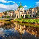 Sarajevo art academy and bridge Festina Lente