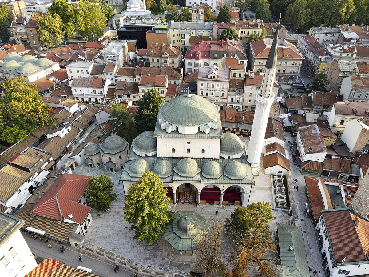 Sarajevo Gazi Husref Bey Mosque Built in 1531. and the Old Town