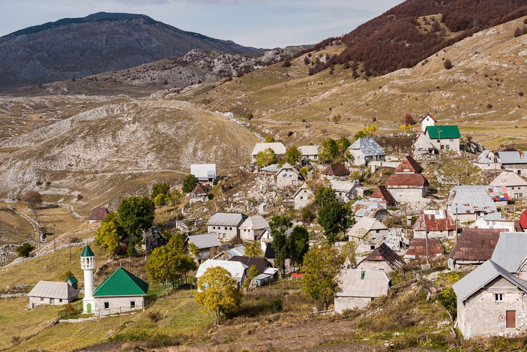 Lukomir village in Bosna and Herzegovina