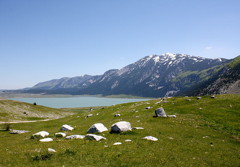 Blidinje Lake with Cvrsnica Mountain