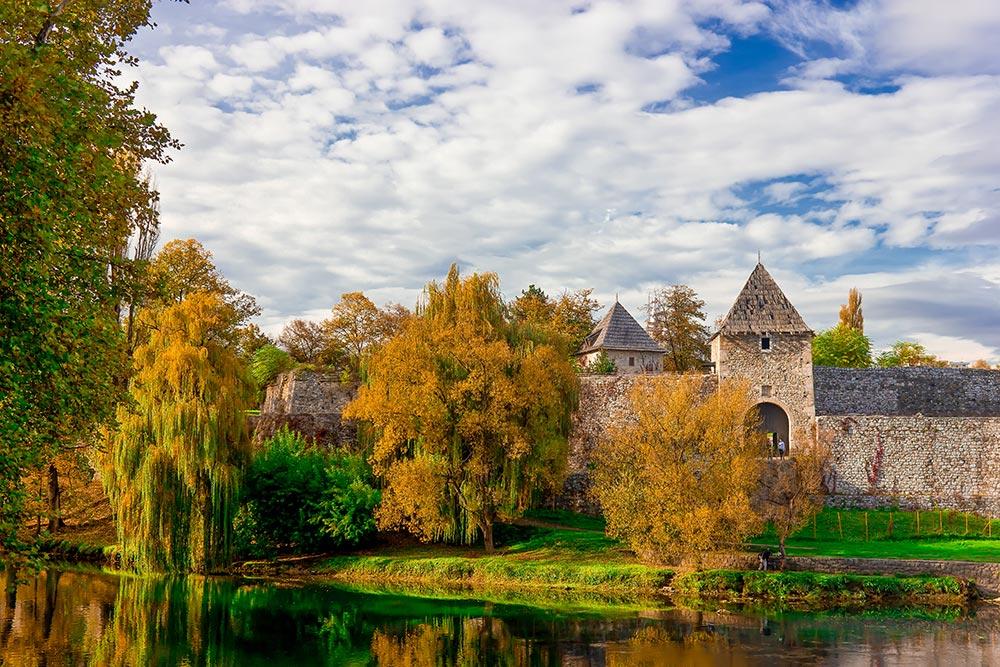 Banjaluka Castel (fort) and Vrbas river