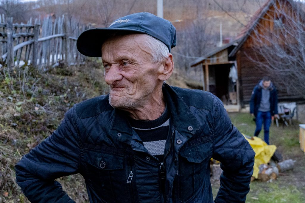 Old man in Srebrenica