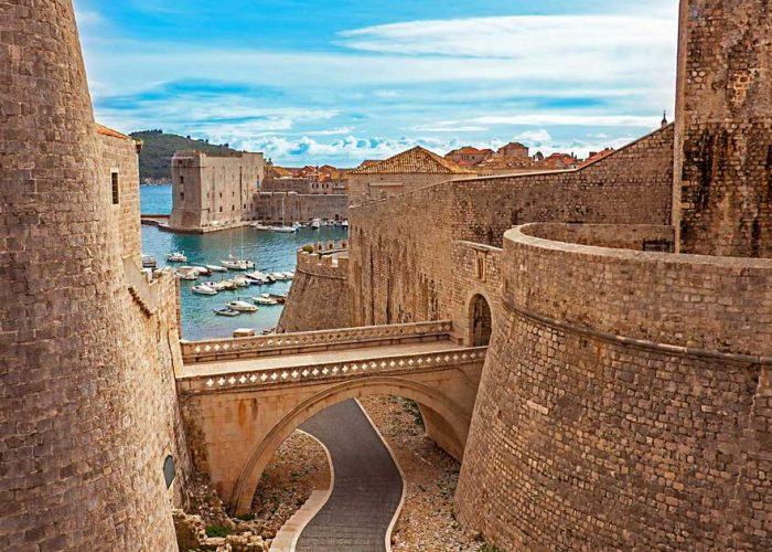 Ancient Walls of Dubrovnik have been restored multiple times in order gain the resembles to their original appearance.