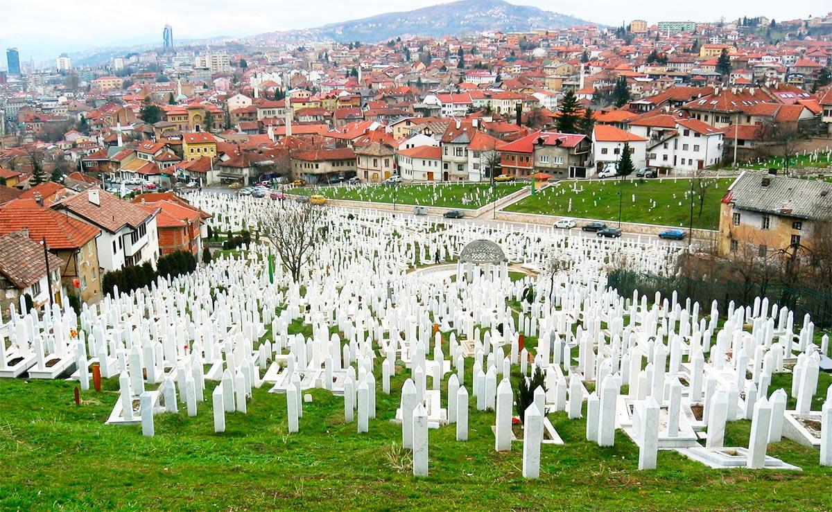 Kovaci Cemetery above Sarajevo