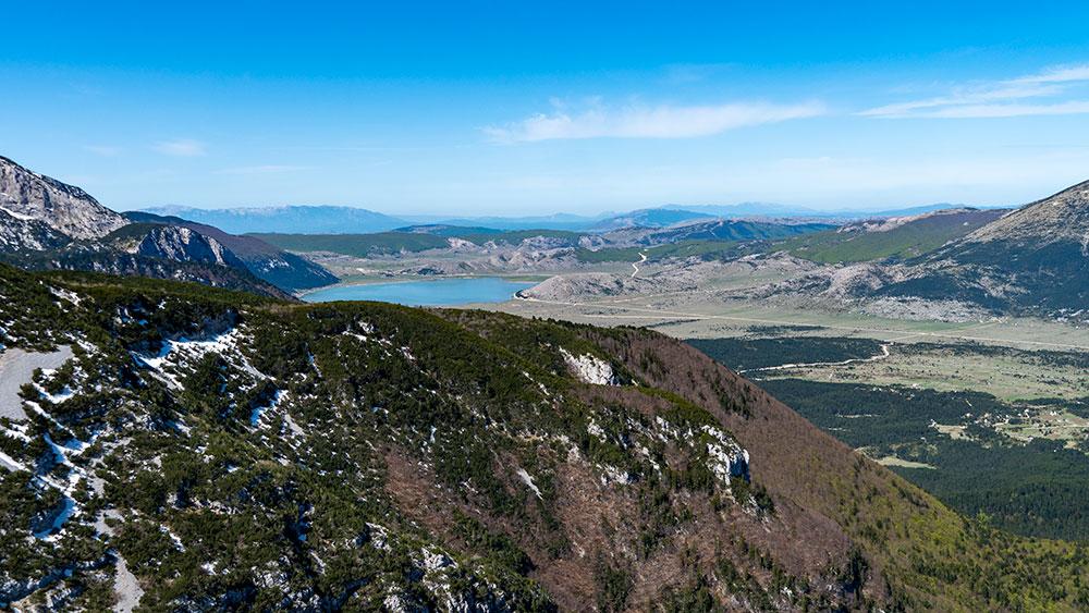 Beautiful Blidinje Lake at Polje Valley