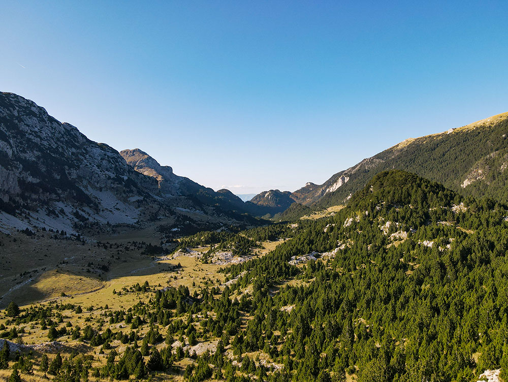 Beautiful Tisovica valley at Prenj mountain