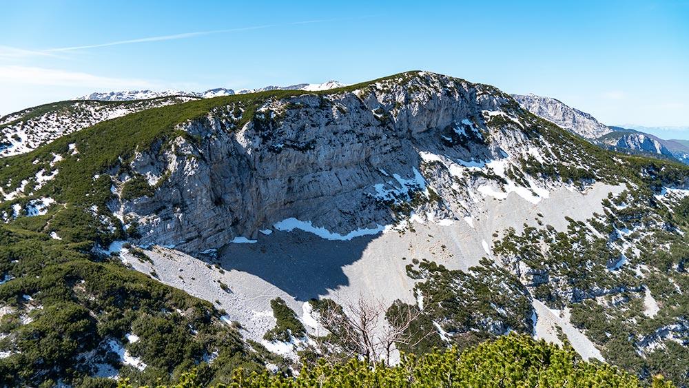 Cvrsnica Mountain Steep Cliffs
