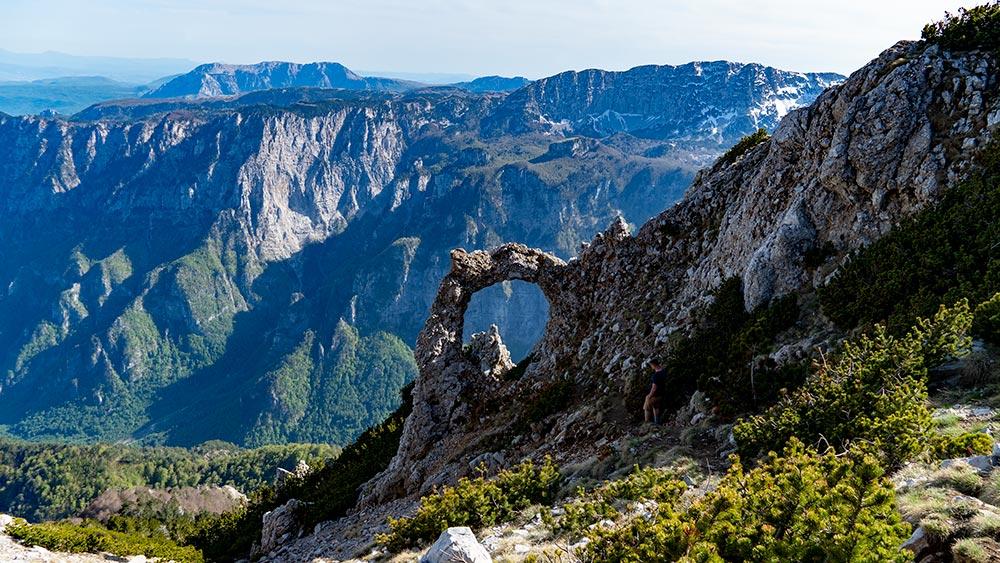 Hajducka Vrata natural phenomena created by rock erosion at Cvrsnica mountain